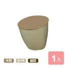 《真心良品》簡約時尚小型掀蓋垃圾桶1入