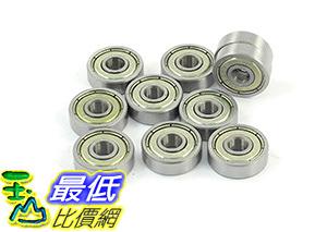 [106美國直購] Amico a13061400ux0831 10 Pcs 625ZZ 5mm x 16mm x 5mm Shielded Deep Groove Radial Ball Bearing