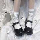 軟妹可愛小皮鞋日系圓頭女學生百搭娃娃鞋平底學院風JK鞋子制服鞋  【端午節特惠】