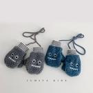 兒童手套 韓國兒童手套冬季寶寶冬天1歲兩歲保暖小怪獸春連指掛脖手套【快速出貨八折搶購】