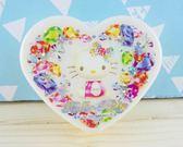 【震撼  】Hello Kitty 凱蒂貓KITTY 心形飾品盒寶石圖案M