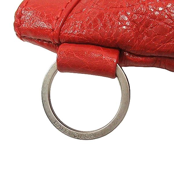 BALENCIAGA 巴黎世家 紅色山羊皮銀釦手拿包  Clutch 273022 【二手名牌BRAND OFF】