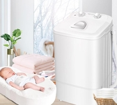 洗衣機 洗脫一體家用小型半全自動嬰兒童雙桶雙缸迷你洗衣機 220v