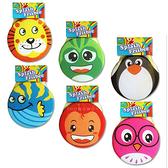 布飛盤 軟飛盤 可愛動物 飛濺飛盤 兒童安全飛盤 沙灘 戶外玩具 6031 親子遊戲