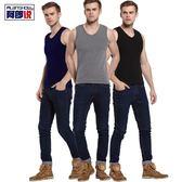 男士背心 男士保暖背心加絨加厚純棉青年緊身運動打底背心男修身無袖 二度3C