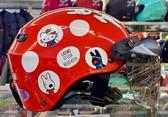 Hello Kitty安全帽,雪帽,K825,麗莎與卡斯柏 X  hello kitty聯名款/紅,附抗UV-PC安全鏡片