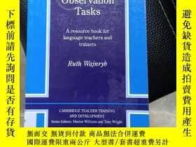 二手書博民逛書店Classroom罕見Observation Tasks: A Resource Book for Languag
