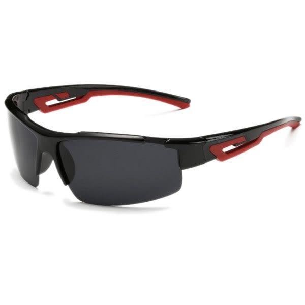 OT SHOP太陽眼鏡‧運動款‧偏光造型運動太陽眼鏡‧全黑‧橘紅‧藍‧藍綠反光‧現貨‧J41