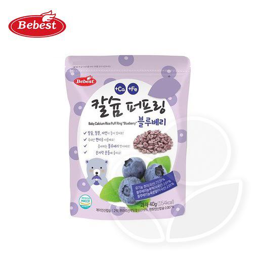 韓國 Bebest 貝思 寶寶米泡芙-藍莓40g【佳兒園婦幼館】