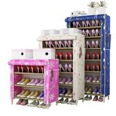 鞋架鞋櫃簡易多層經濟型家用實木組裝宿舍布藝牛津布防塵簡約    9號潮人館 IGO