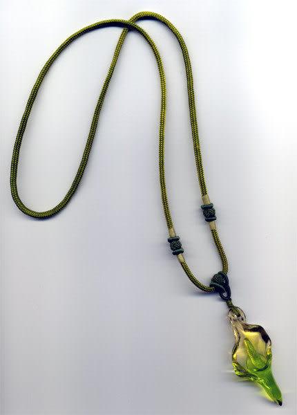 鹿港窯~居家開運水晶琉璃項鍊~海芋 附精美包裝 ◆免運費送到家◆