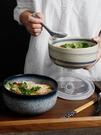 碗 陶瓷泡面碗帶蓋碗宿舍用學生單個大號便當飯盒碗家用碗筷套裝【快速出貨八折搶購】