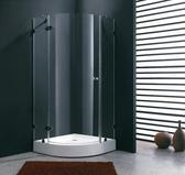 【麗室衛浴】B-029 無框8mm強化玻璃圓弧外開淋浴拉門 獨特設計白鐵懸吊鉸鏈及白鐵五金