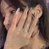 蛇形戒指女小眾時尚潮流食指戒【繁星小鎮】