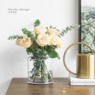 花瓶擺件客廳插花玻璃透明北歐創意簡約【小獅子】