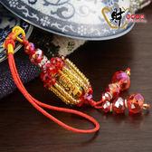 三面財神-祈福天燈吊飾(紅色)《含開光》財神小舖【DSL-7516-1】