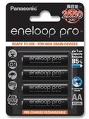 國際 Panasonic eneloop pro 3號 AA (四顆) 2550mAh 高容量 鎳氫充電電池 BK-3HCCE4BTW  4入