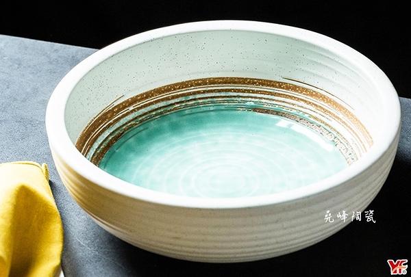 日式餐具 綠如意系列 8吋厚缽 |沙拉碗|水果碗|冰品碗|套組餐具系列|堯峰陶瓷