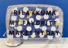 【震撼精品百貨】Rilakkuma San-X 拉拉熊懶懶熊~San-X 透明收納包/化妝包#75791