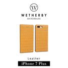 【G2 STORE】WETHERBY Croco 鱷魚壓紋 iPhone 7/8 Plus 5.5吋 手工製作 真皮 保護套 皮套 印地黃