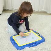 兒童畫畫板磁性寫字板小孩寶寶玩具1-3歲2嬰兒幼兒彩色磁力塗鴉板igo 美芭