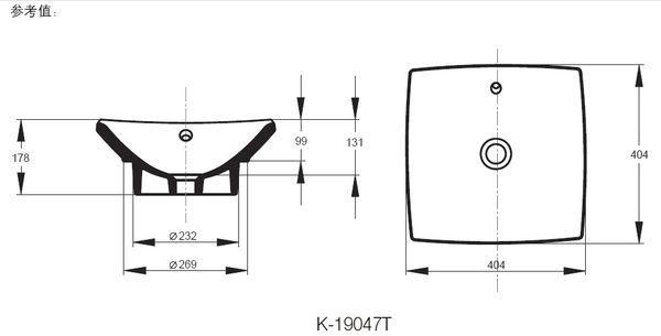 【麗室衛浴】美國KOHLER WAVE加高龍頭+Escale 檯上盆 + 國產木紋發泡板浴櫃+腳柱20cm+木紋櫃50cm