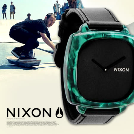 NIXON A167-1054 THE SHUTTER 時尚真皮 熱賣中!