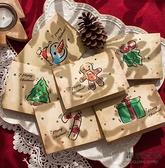 聖誕賀卡咭節日小卡片創意祝福感謝感恩可手寫字新年復古【毒家貨源】