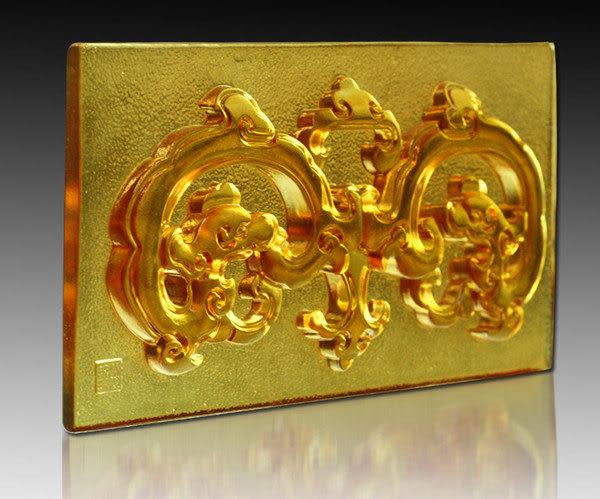 鹿港窯~居家開運琉璃磚【如意雙龍(浮雕)】附古法製作珍藏保證卡◆免運費送到家