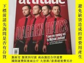 二手書博民逛書店Attitude罕見英國雜誌 2007年8 9月合刊 Darre