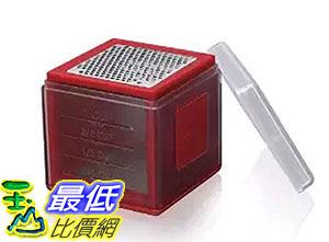 [2美國直購] Microplane 3-in-1 Cube Grater- Red 刨刀 研磨盒 _ff23