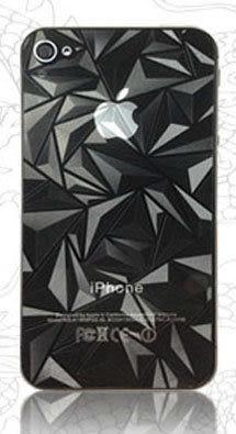 Apple IPHONE 5/iphone 5 3D三角形 霧面 前後貼 手機 螢幕保護貼 背蓋保護貼 防指紋 油污 靜電吸附