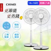 【CHIMEI奇美】14+16吋微電腦ECO遙控擺頭DC節能風扇(14D500+16D500)