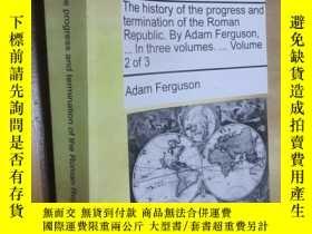 二手書博民逛書店The罕見history of the progress and termination of the Roman