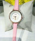 雙12鉅惠 手錶女學生簡約小清新細皮帶小表盤 新知優品