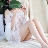情趣內衣性感吊帶白色仙女透明誘惑公主套裝騷薄紗睡衣大碼睡裙 萬聖節滿千八五折搶購