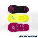 女運動船型襪22cm~26cm-黑粉x黃x藍點桃紅