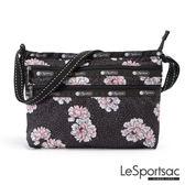 LeSportsac - Standard橫式三層拉鍊斜背包(牡丹派對) 3352P F083