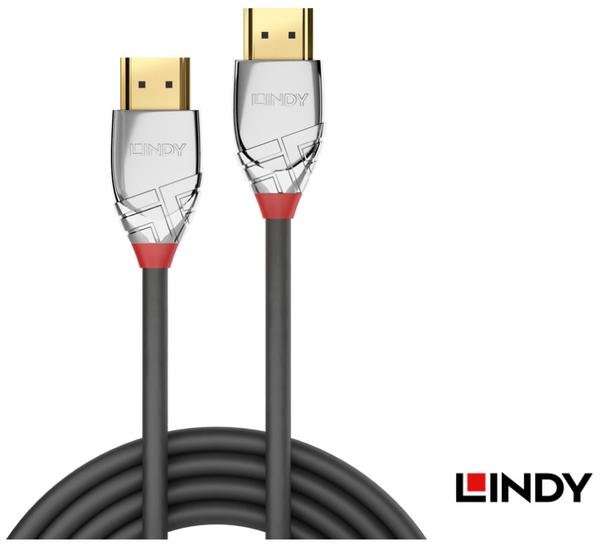 [ 中將3C ]   LINDY林帝  CROMO鉻系列 HDMI 2.0(TYPE-A) 公 TO 公 傳輸線 3M  (37873)