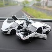 合金車汽車擺件仿真車載內飾車內裝飾品擺件發聲發光金屬模型【端午節免運限時八折】