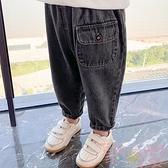 兒童牛仔褲子春秋款男童長褲裝寶寶韓版【聚可愛】
