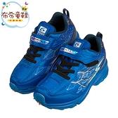 《布布童鞋》Moonstar日本爆裂閃電藍色兒童機能運動鞋(17~24公分) [ I0X065B ]