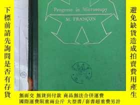 二手書博民逛書店progress罕見in microscopy (H2401)Y