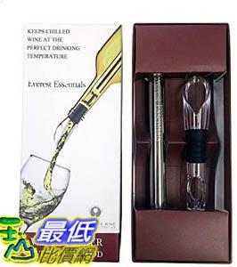 [9美國直購] Wine Chiller 醒酒器 Aerator and Pourer: Enjoy a Glass of Perfectly Chilled Wine with the 3 in 1 Stainless Stee