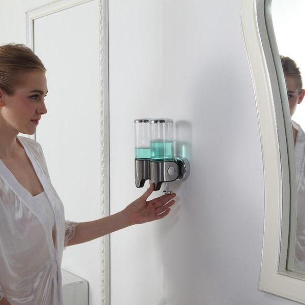 酒店浴室不銹鋼壁掛式手動沐浴洗手液瓶子  LVV2990【棉花糖伊人】