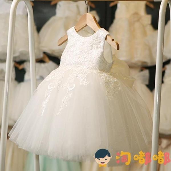 女童蓬蓬紗花童婚紗裙公主裙鋼琴走秀主持人演出服兒童禮服【淘嘟嘟】