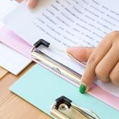 文件夾 單層夾板學生用寫字卡通墊板簡約紙質夾板記事板夾子小清新書寫墊板加厚 晶彩生活
