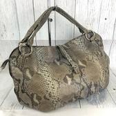 BRAND楓月 CELINE 159854 墨綠色 蛇皮 肩背包 托特包 手提包