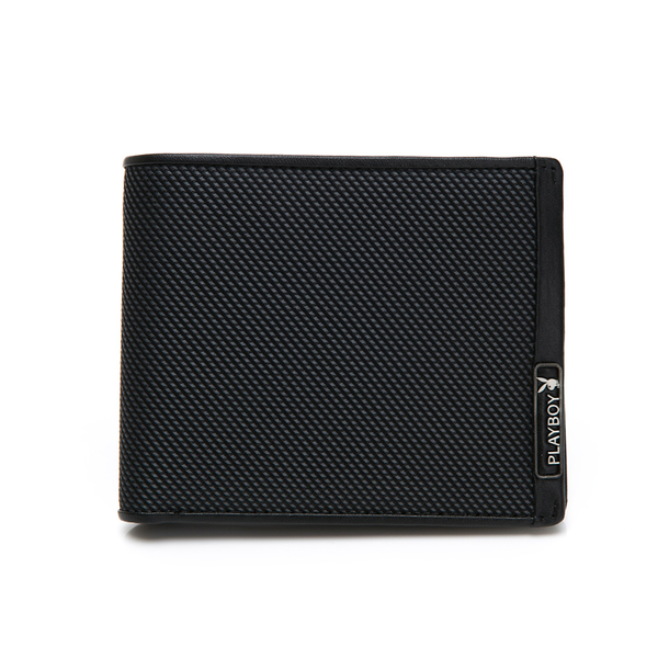 PLAYBOY- 基本短夾附壓扣零錢袋 plus系列-灰綠色