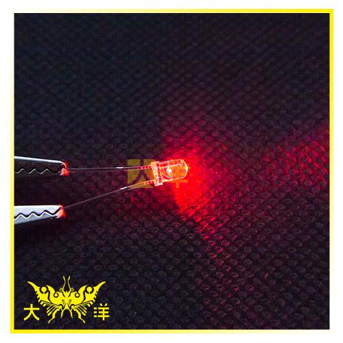 ◤大洋國際電子◢ 3mm透明殼 紅光 高亮度LED (100PCS入) 0626-R-A LED 二極管